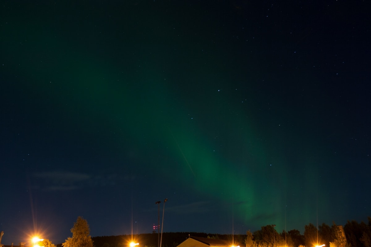 aurora borealis falun sweden