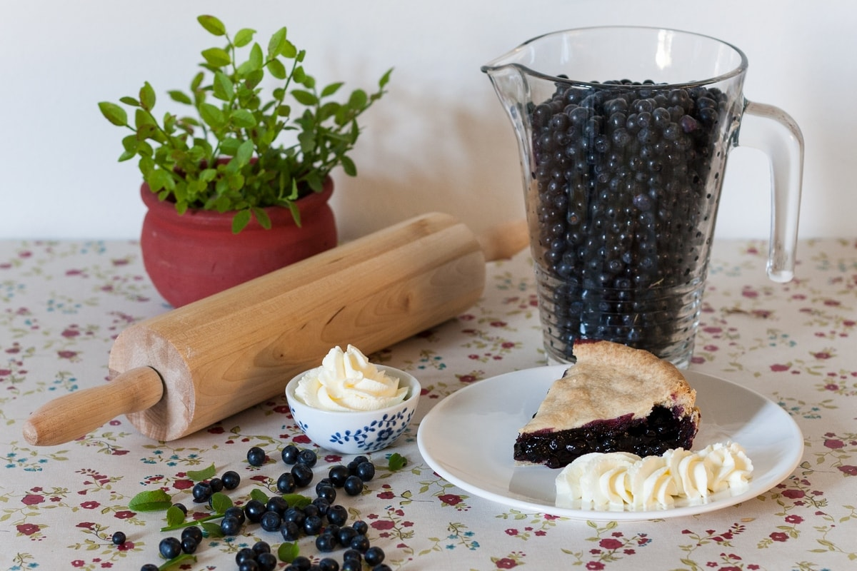 swedish blueberry pie