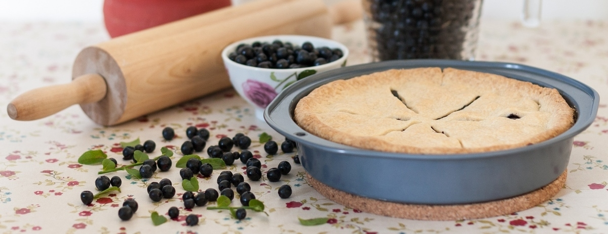 swedish blueberry pie