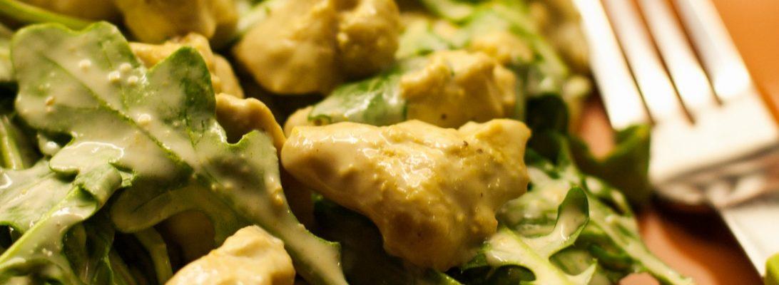 curry chicken arugula