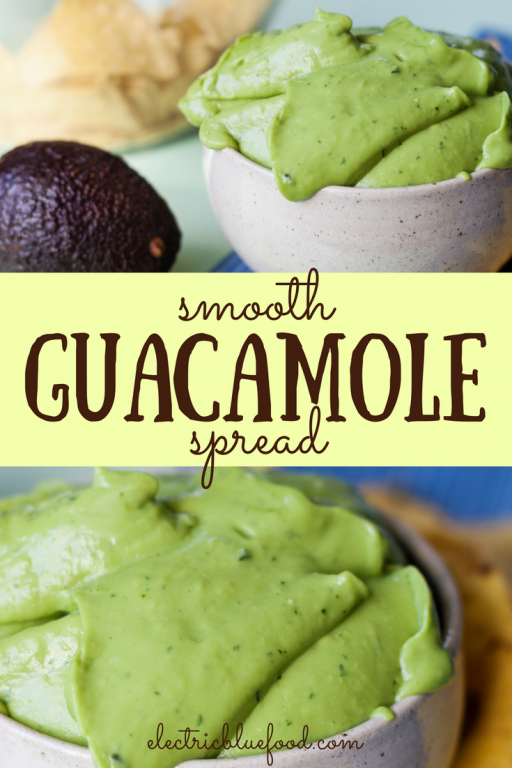 smooth guacamole spread, perfect for tacos or as dip for nachos
