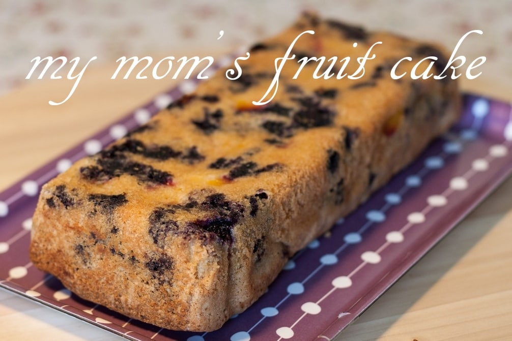 nectarine blueberry cake loaf