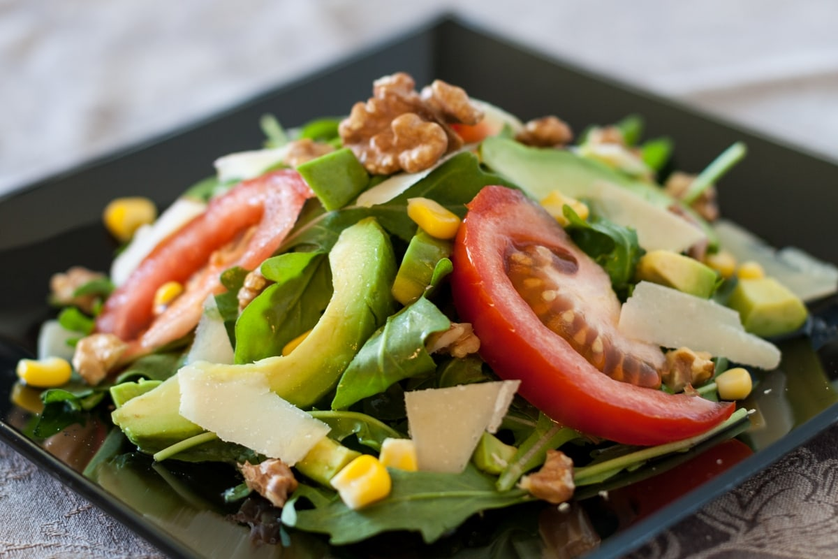 salad with honey lime dressing