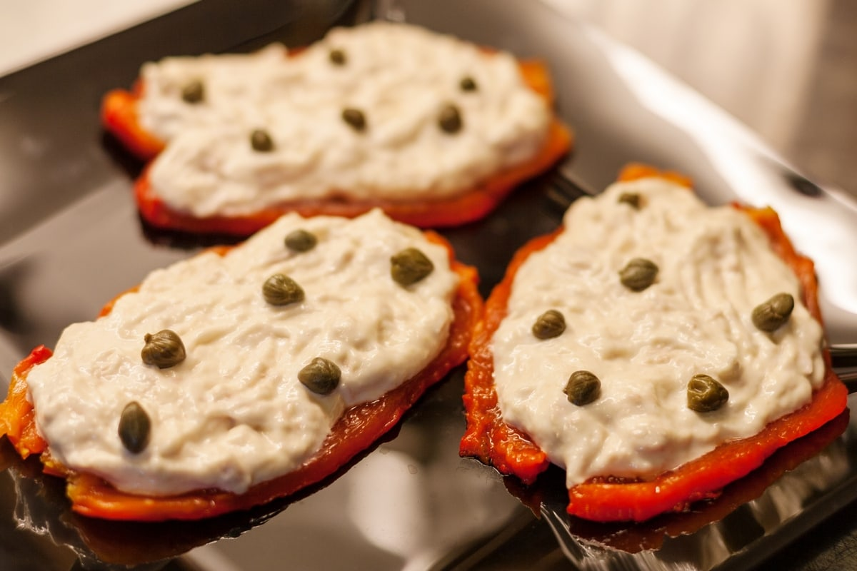 tuna mayo roasted peppers