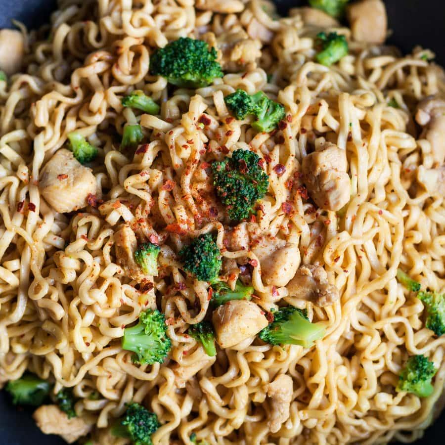 chicken broccoli noodle wok