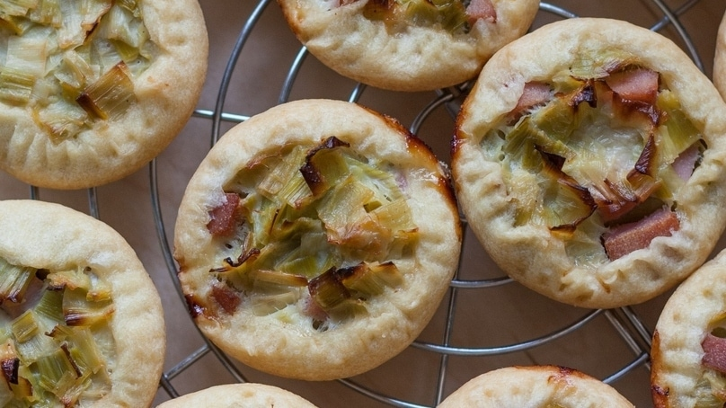 mini leek pies