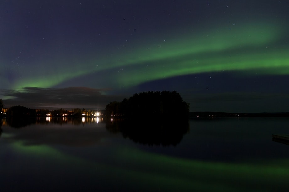 northern lights dalarna october