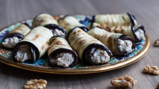 walnut feta eggplants