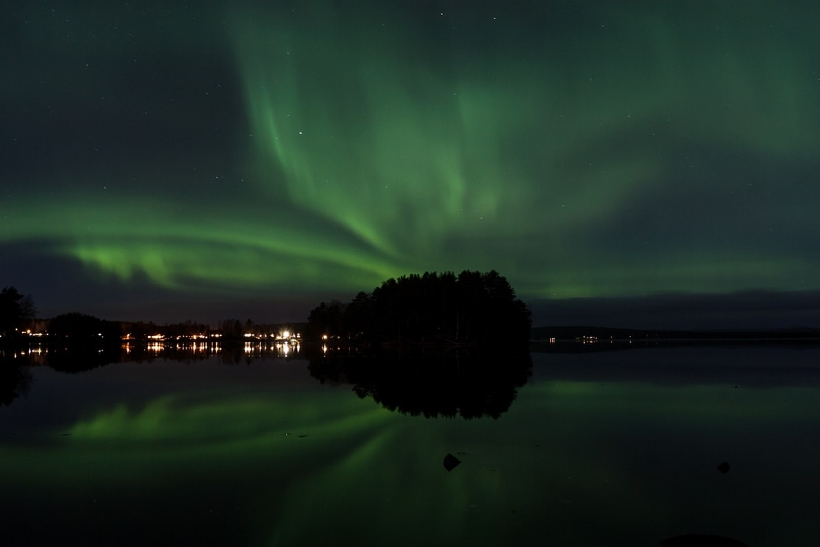 aurora borealis dalarna northern lights falun