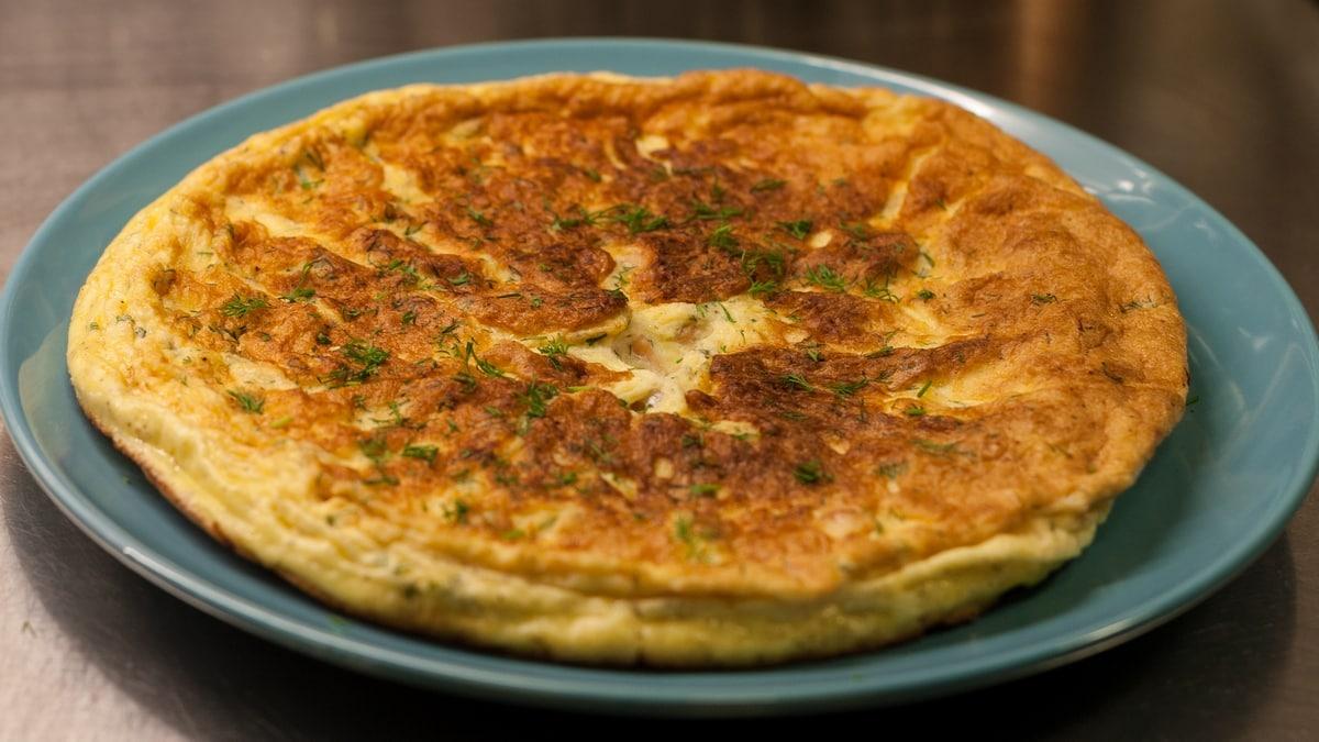 salmon dill omelette