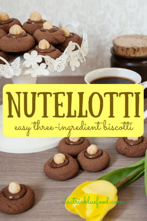 Nutella, an egg and flour, to make nutellotti you really don't need anything else. The simplest rich choco-hazelnut biscuits you can make. #nutella #nutellotti #worldnutelladay
