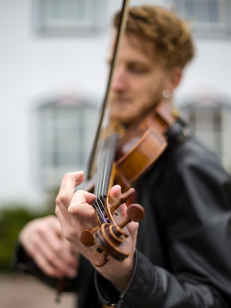 violinist violin player portrait