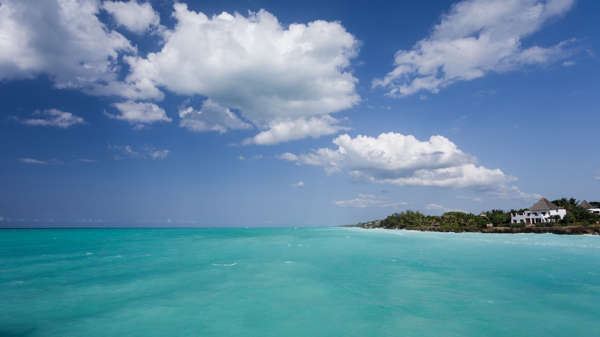 Zanzibar, perfect blue water of the Indian Ocean