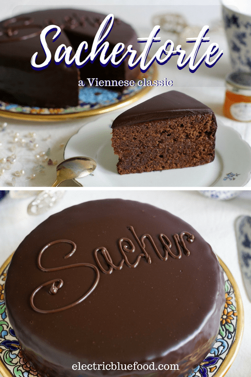 Sachertorte is a signature cake in Vienna, made famous at Hotel Sacher in the Austrian capital. A delicious chocolate cake with apricot jam.