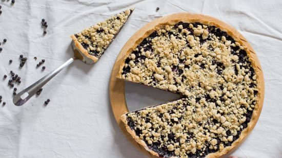 fresh blueberry shortcrust tart