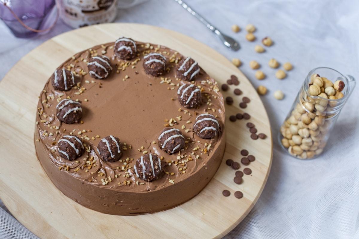 ferrero rocher hazelnut cake