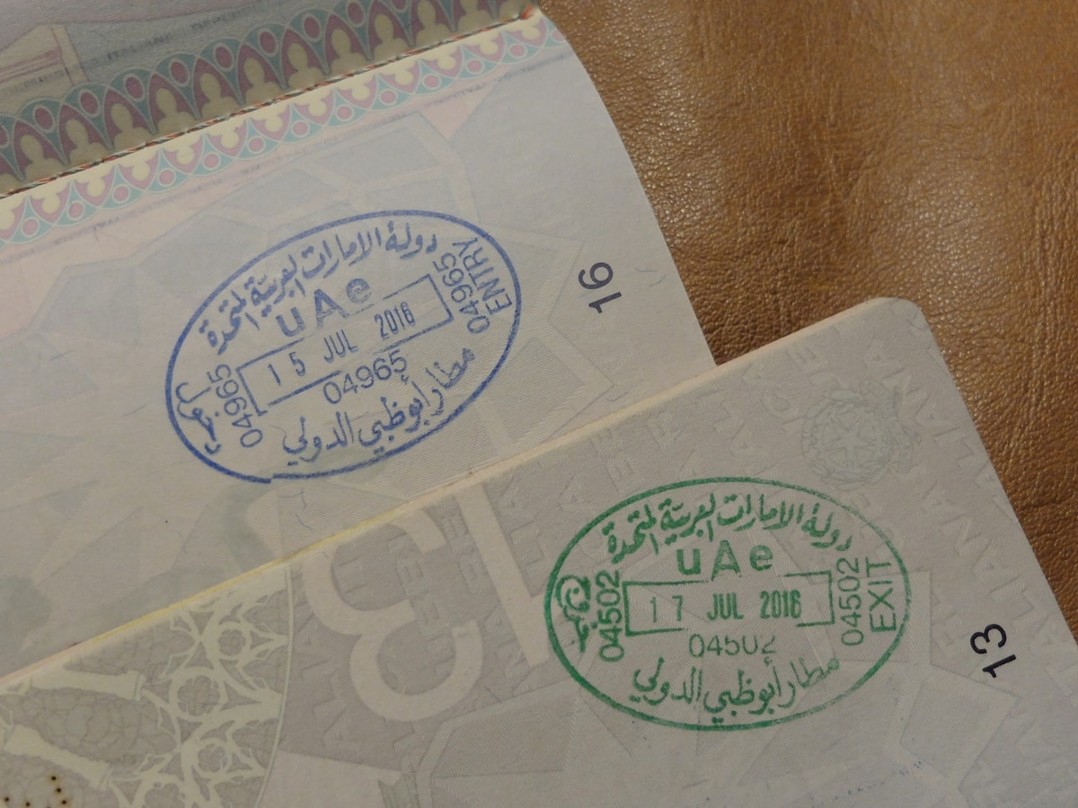united arab emirates passport stamps