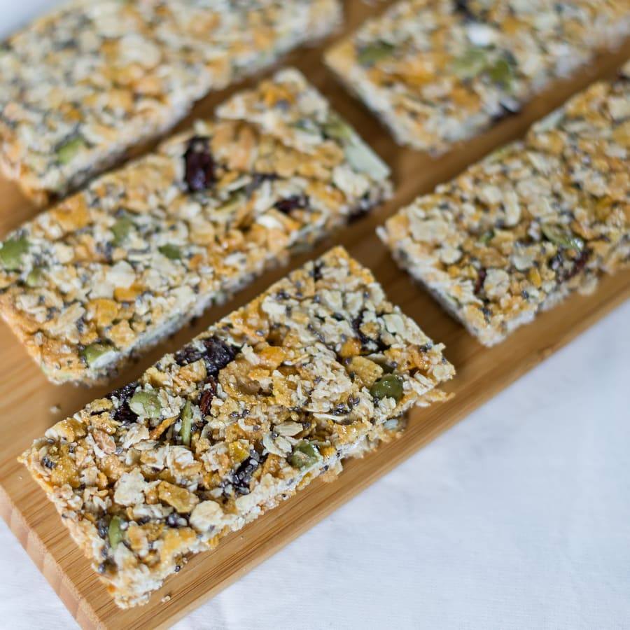 healthy home-made granola bars