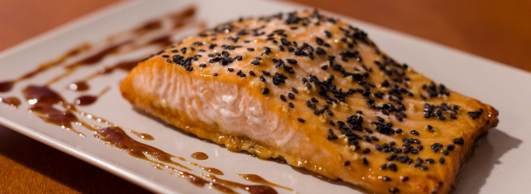 salmon with honey mustard glaze