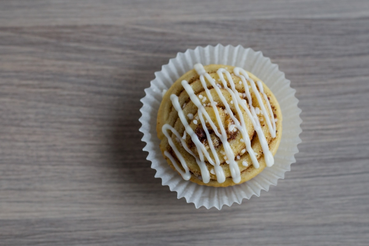 kanelbulle muffin cinnamon bun