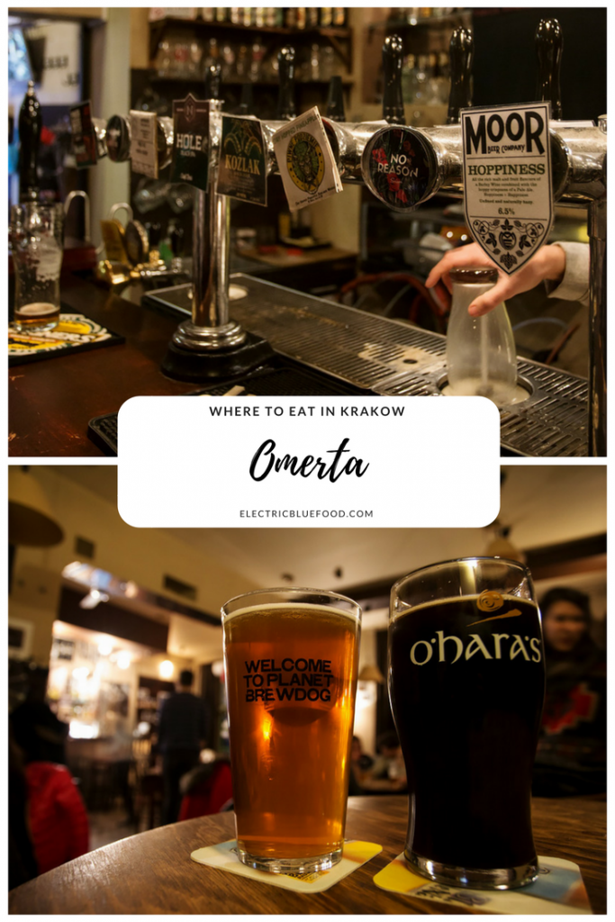 Looking for a great place to have a beer after a full day of exploration of the enchanting city of Krakow? With 27 beers on tap Omerta might have what you need!