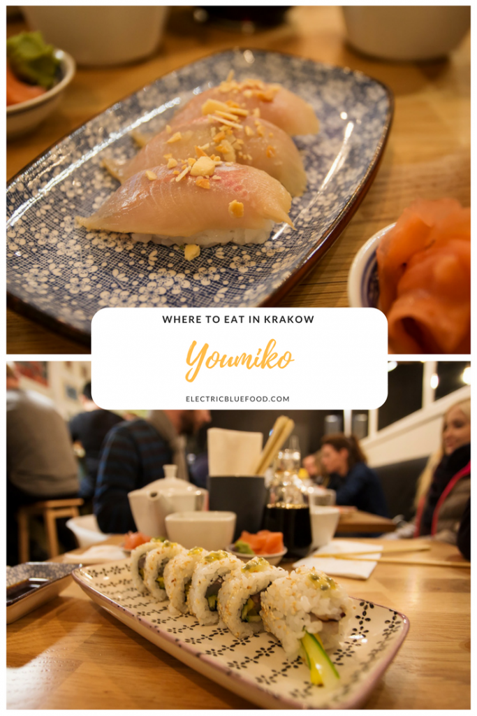 Krakow has an amazing foodie scene. Youmiko is my favourite sushi place and it's located in the Jewish quarter Kazimierz.