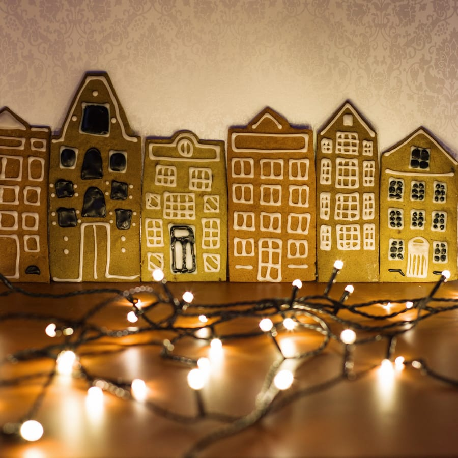 gingerbread Amsterdam houses