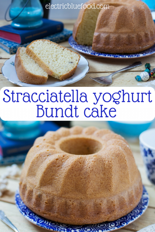 This stracciatella yoghurt Bundt cake is so soft thanks to the yoghurt, and the surprise over a chocolate flake is the crunch you didn't expect.