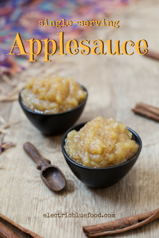 Make smaller quantities of applesauce and enjoy it also when you don't have tonnes of apples to preserve!