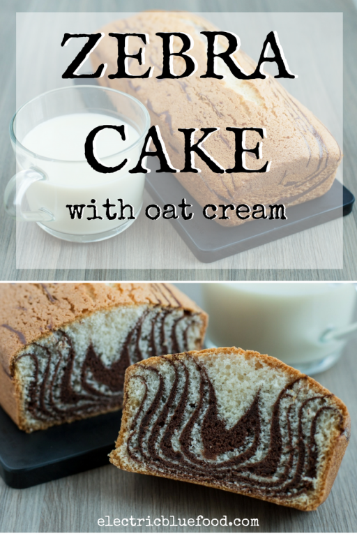 In this recipe I'm using oat cream, making this oat cream cake suitable for people with a milk allergy. It has a zebra pattern because it's cute.