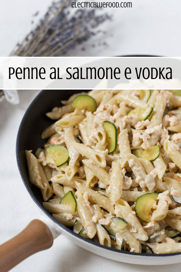 Penne al salmone e vodka, an Italian recipe for a foolproff delicious pasta main course.