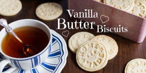 Easy biscuits that smell like vanilla and butter.