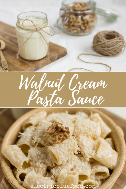 Walnut cream pasta sauce recipe