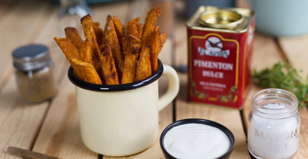 Baked sweet potato fries, crispy and healthy