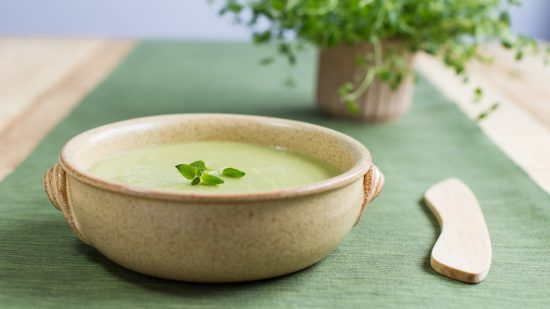 Green pea and ricotta soup recipe