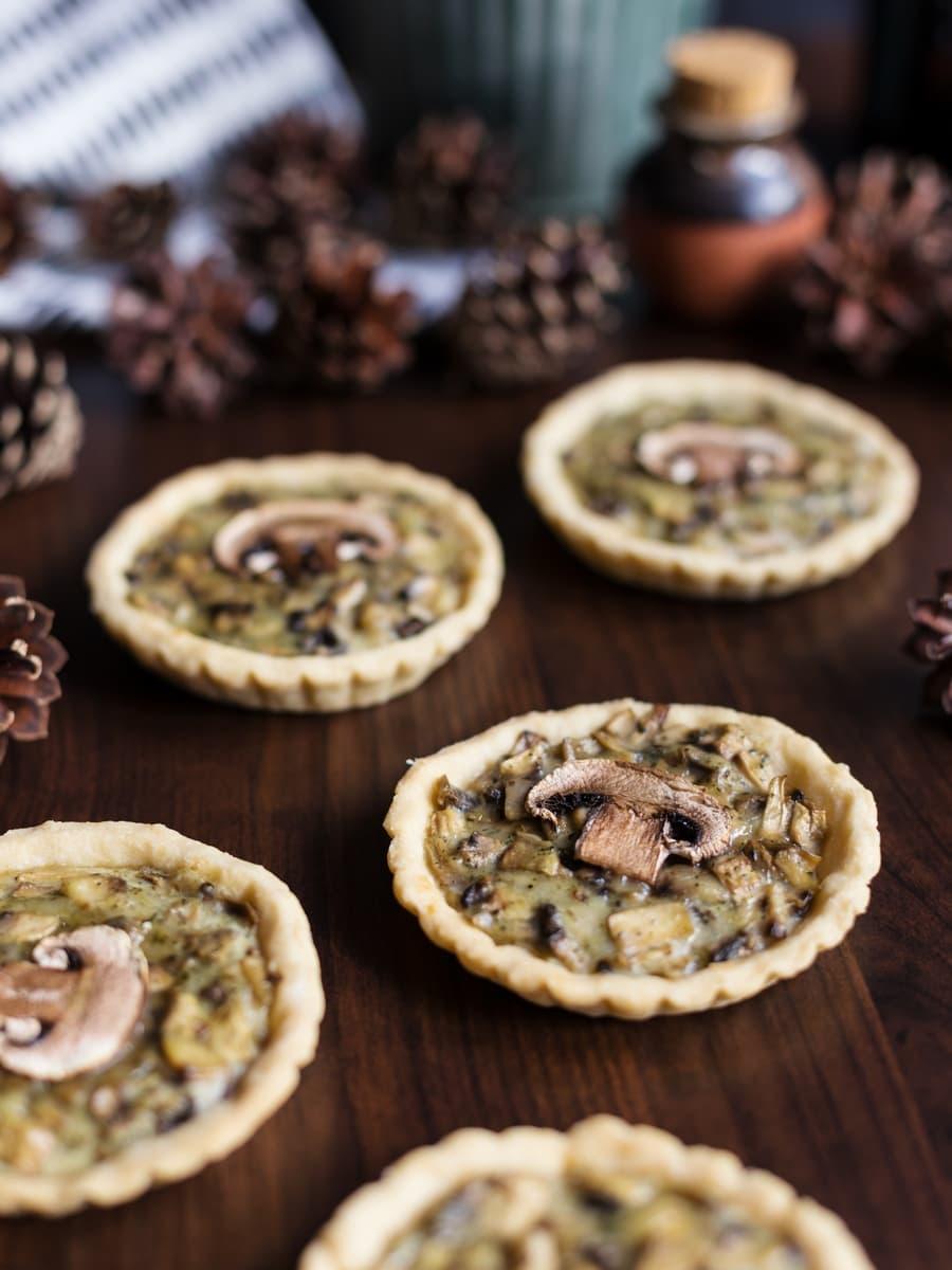 Mini mushroom pies recipe