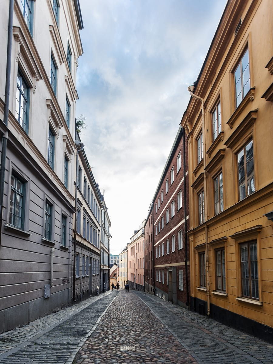 Cobbled streets of old town Stockholm