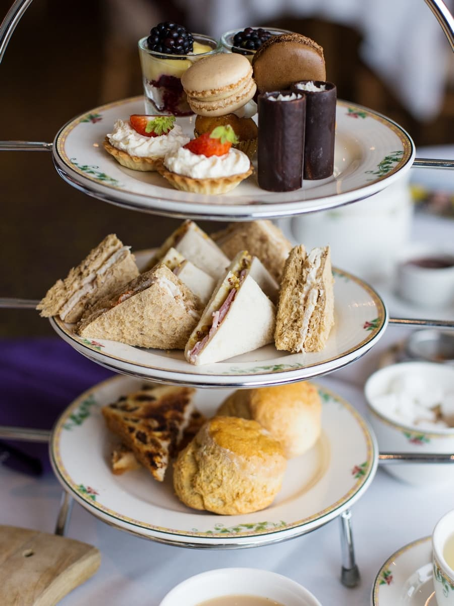 Northern Ireland food. Afternoon tea at Ballygally Castle