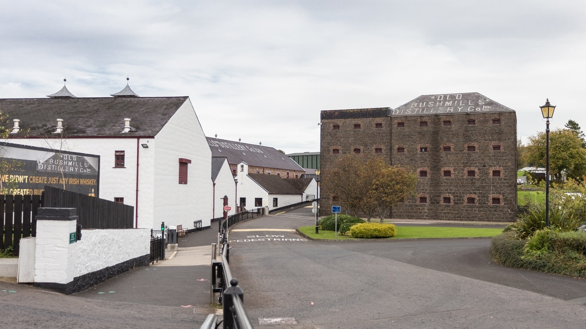 A distillery tour of Ireland. Bushmills.