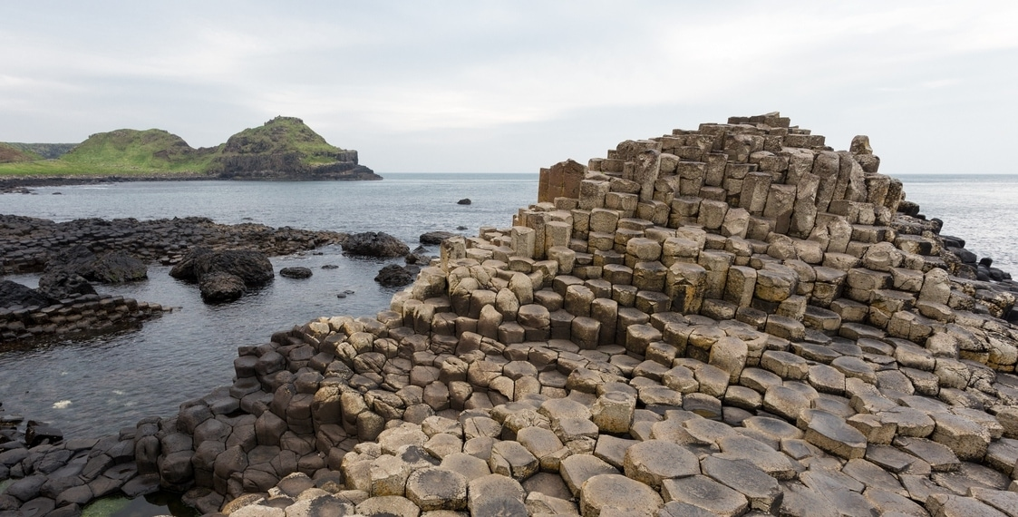 Visiting the Giant's Causeway one autumn morning.