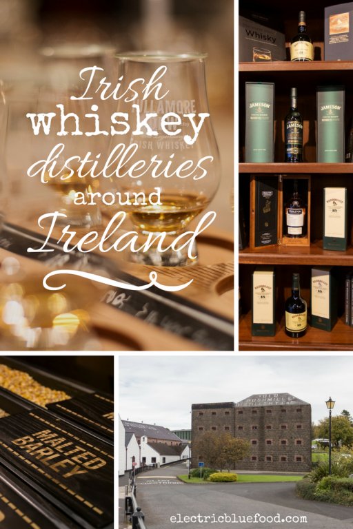 Visiting Irish whiskey distilleries around Ireland.