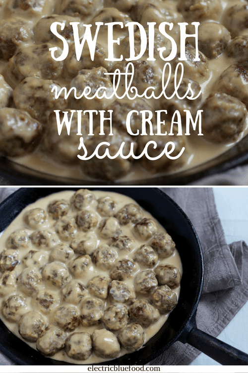 Swedish meatballs in cream sauce