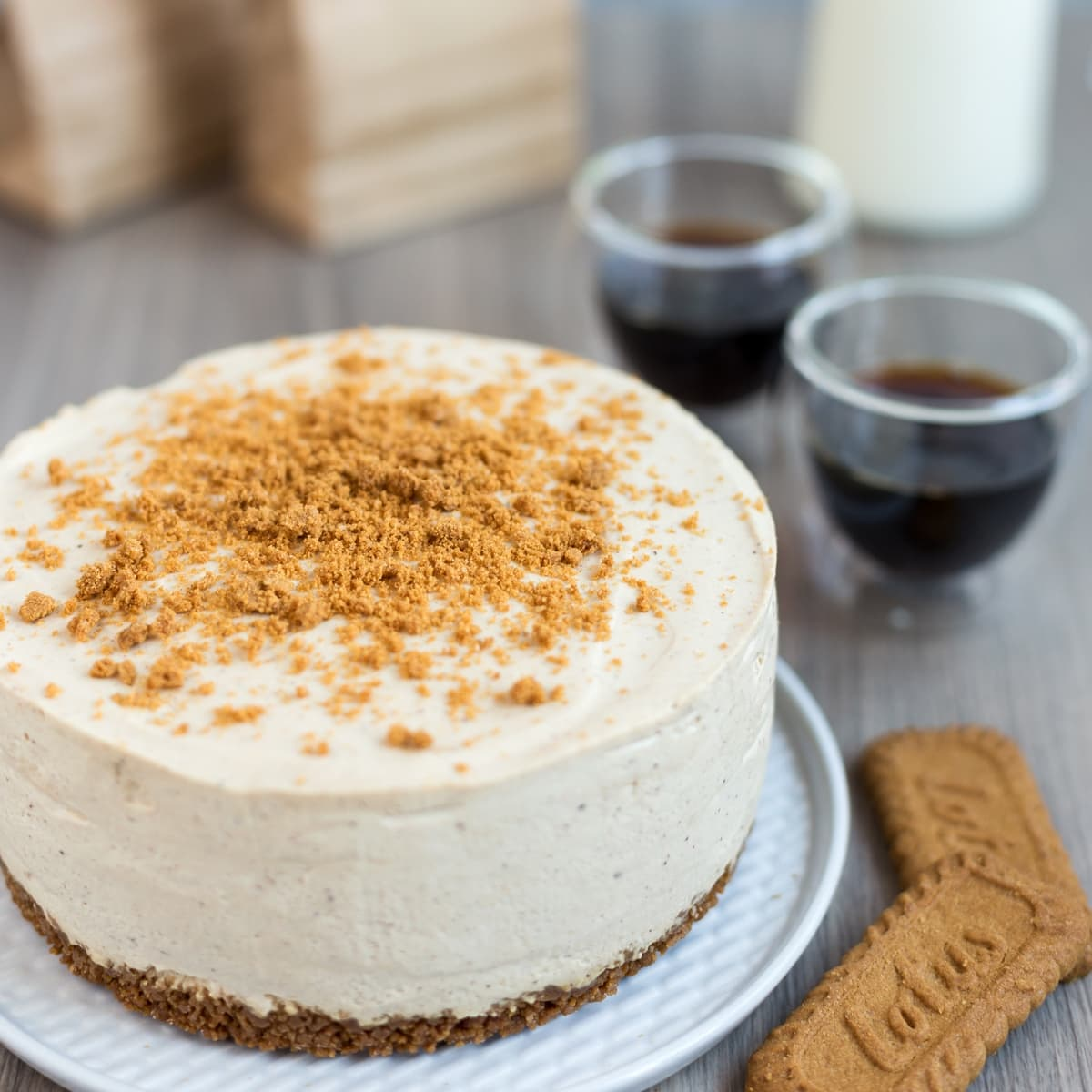 Gingerbread cheesecake, a real treat for the Christmas season