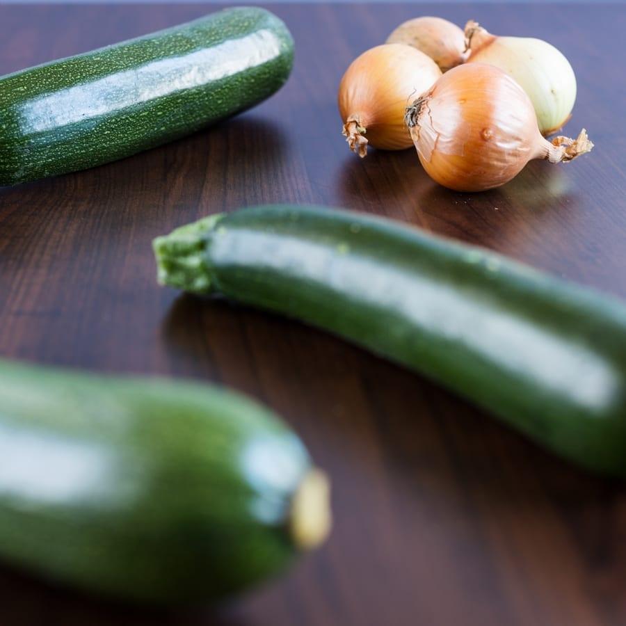 Zoodles: peanut chili zucchini noodles