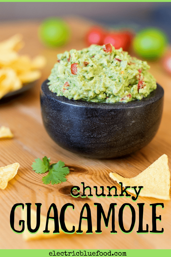 Chunky guacamole - more than just a dip! This version is chunky and full of flavour.