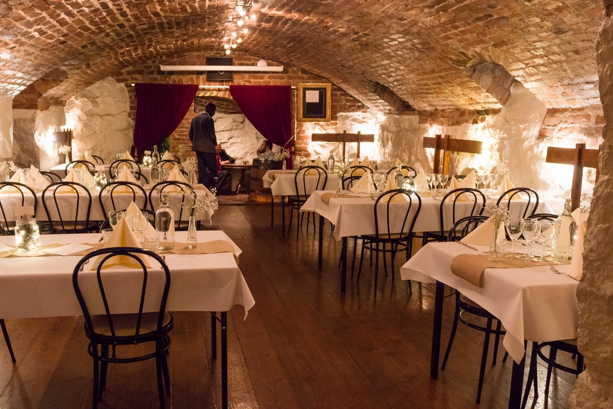 Stockholmsbit's venue En Trappa Ner, where I had my wedding reception at my Stockholm wedding