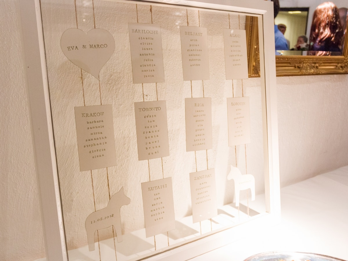 Seating chart made from an old window. My wedding reception food and decorations.