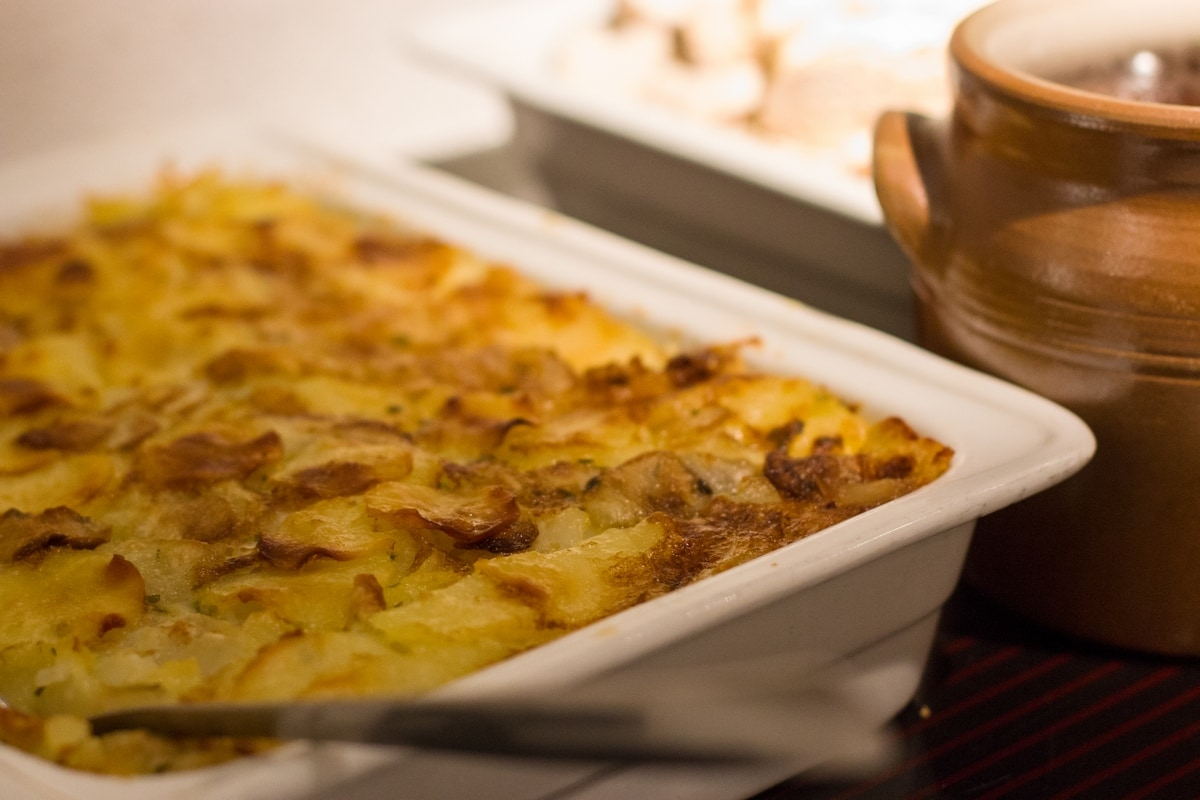 My wedding reception buffet food: the potato gratin