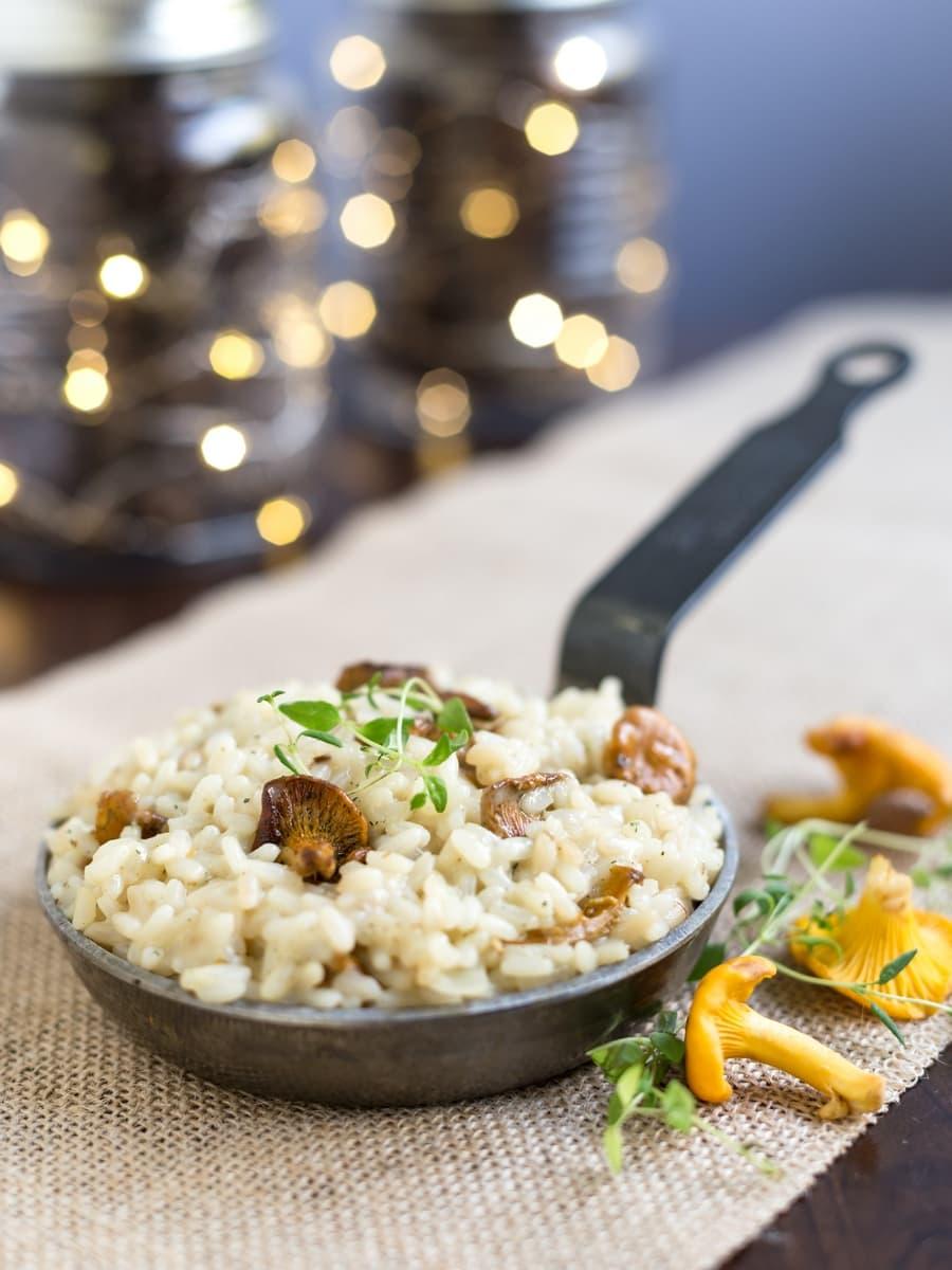 Creamy chanterelle risotto
