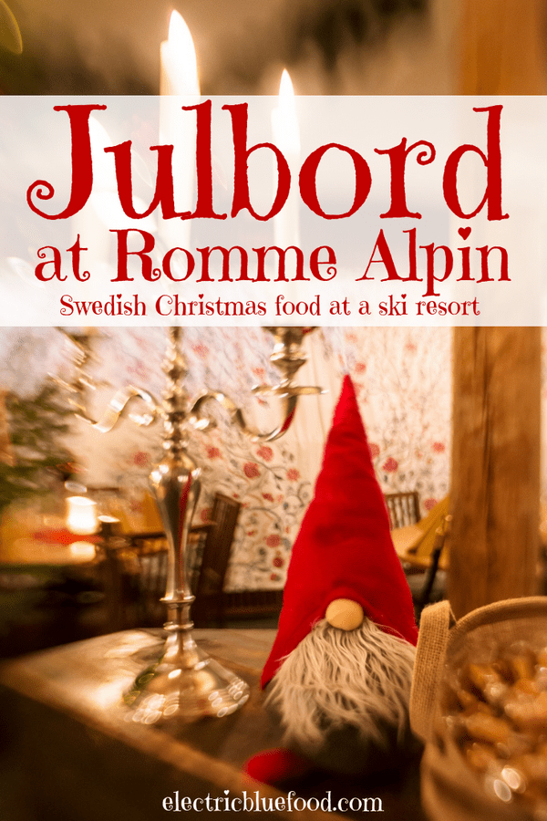 Julbord at Romme Alpin